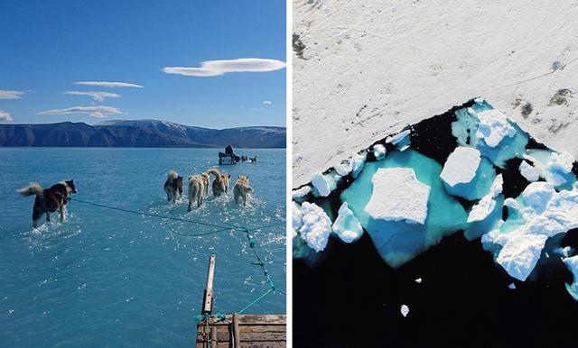 Bilden som ger oss klimatångest deluxe – visar två miljarder ton smält is på Grönland