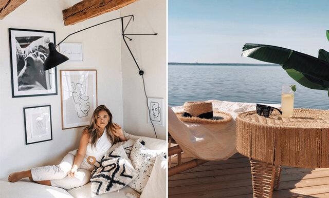 """Hemma hos Rebecca Fredriksson: """"Vill skapa en bohemisk och tropisk känsla"""""""