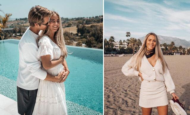 """Janni Olsson Delér väntar sitt första barn:  """"Känns så overkligt, men så självklart!"""