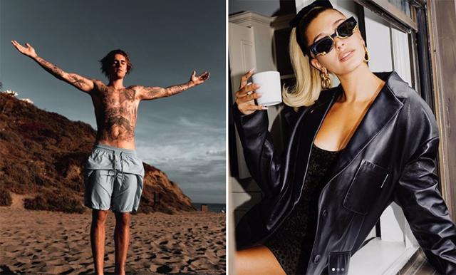 Bilden på Justin och Hailey Bieber som avslöjar att stjärnan skapar ny musik