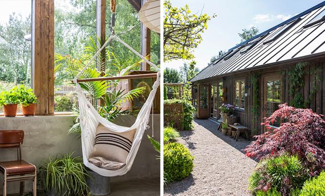 Ett grönt paradis – veckans hem är villan med det helt magiska orangeriet