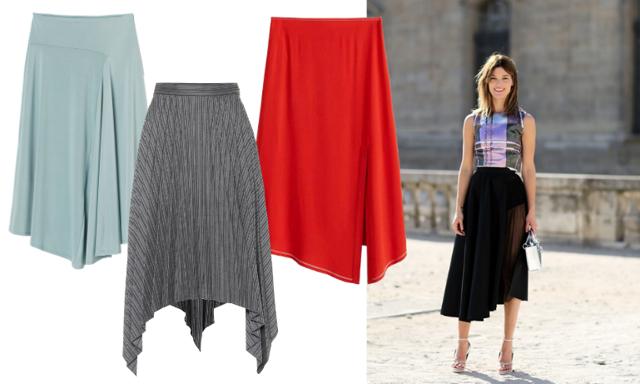 Midikjolen i ny tappning! 14 asymmetriska kjolar att bära på kontoret