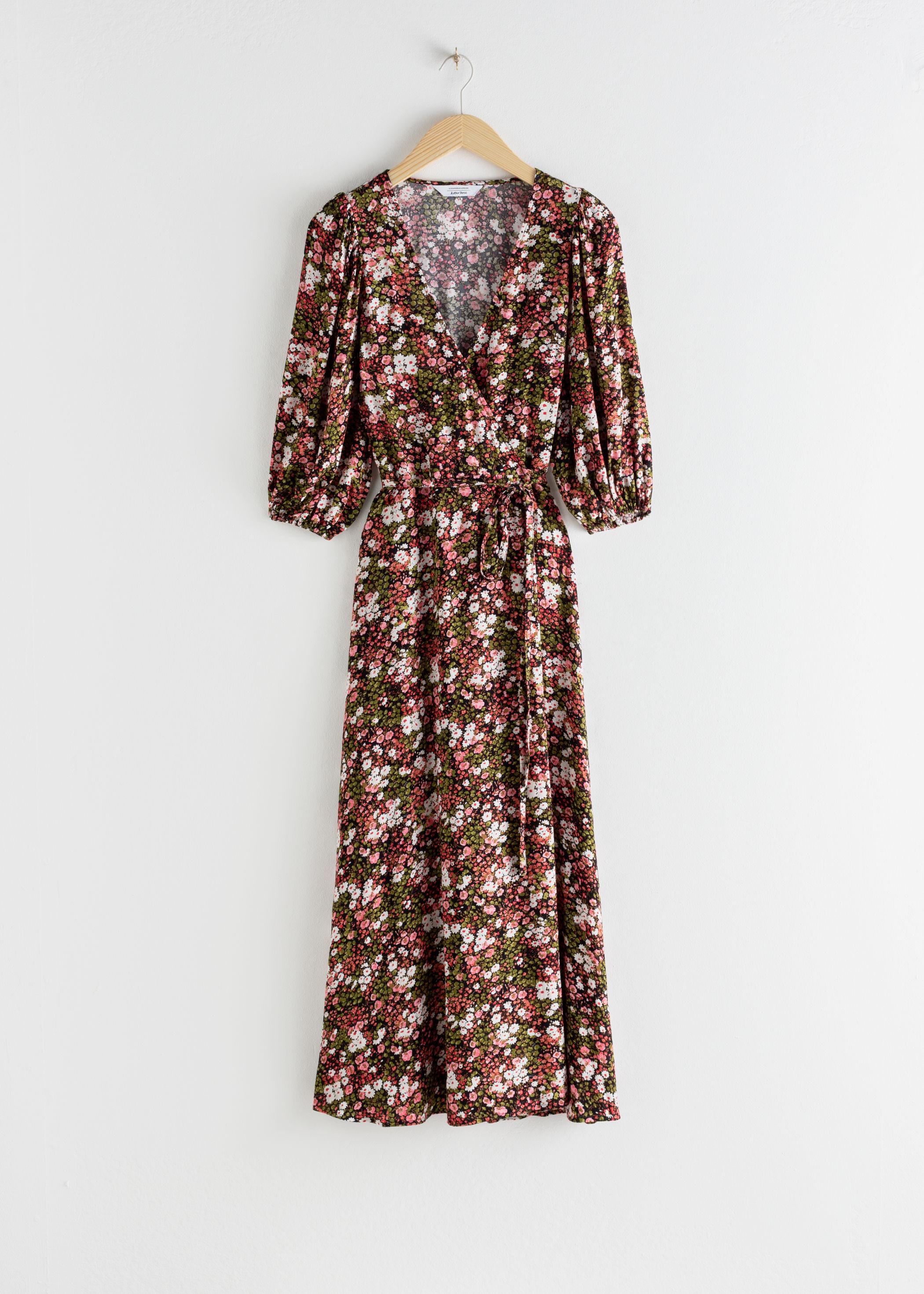 blommig klänning höst