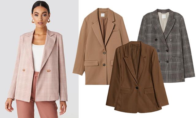 Chokladbrunt, randigt och beige! 16 trendiga blazers som lyfter varje outfit