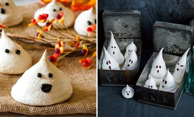 Så gör du söta små marängspöken till Halloween
