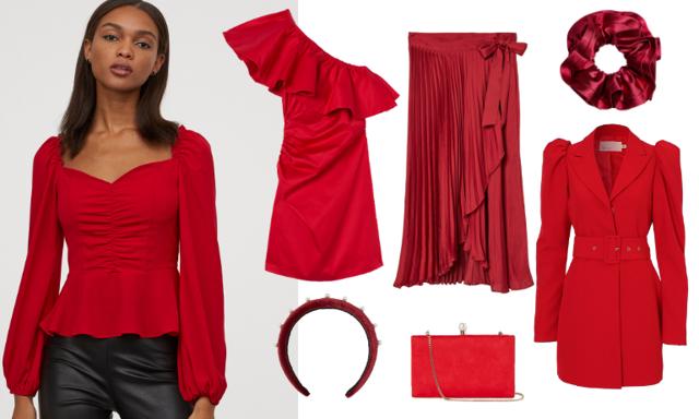 Gör succé på julfesten! 30 röda plagg och accessoarer att bära i jul