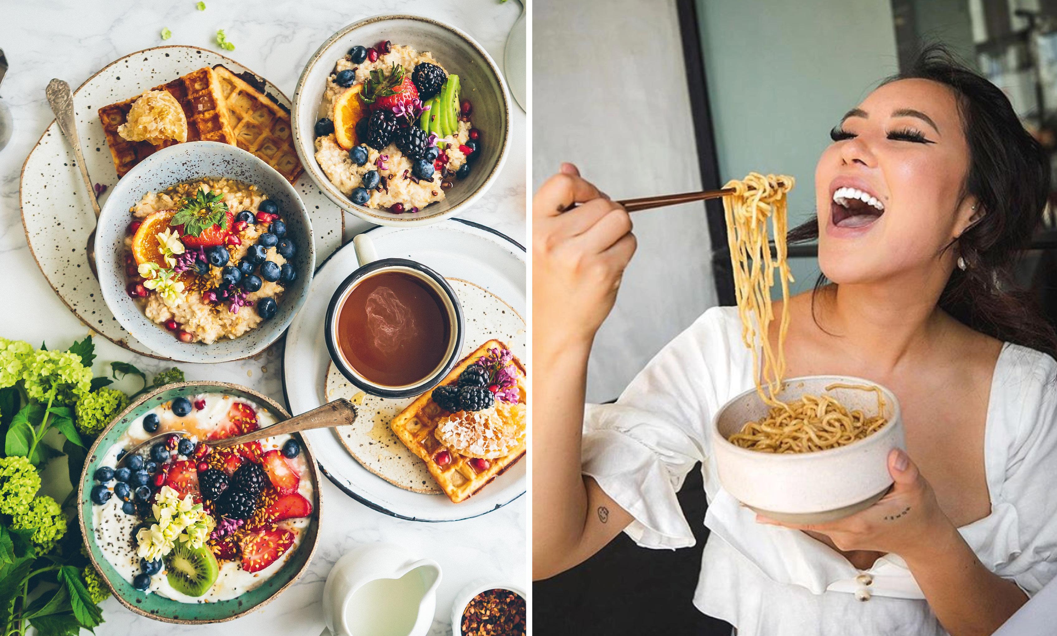 breakfast, girl eating