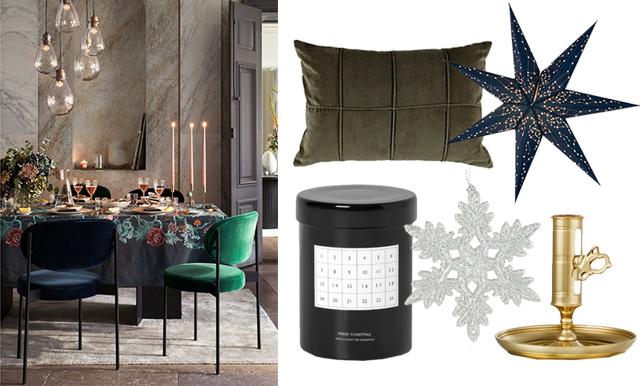 Guld, silver och mörka nyanser – 16 julkreationer som ger en lyxig känsla hemma