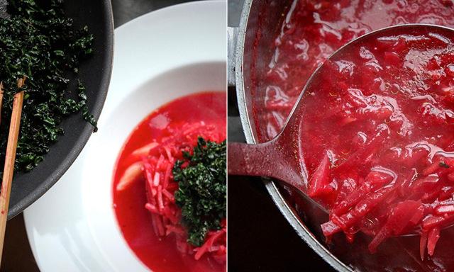 Rysk rödbetssoppa med modern tvist