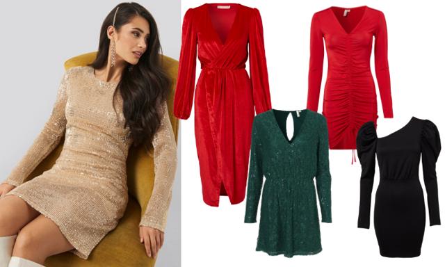 Perfekt till glöggpartyt, julfesten och nyår! 26 festliga klänningar under 500 kronor