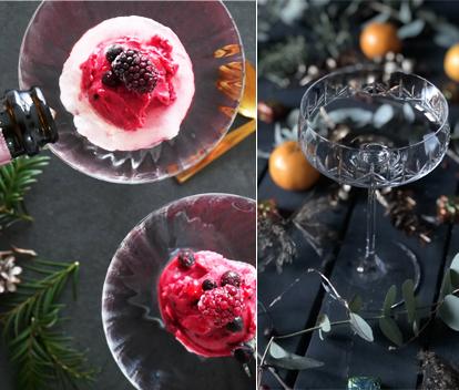 Enkel och lyxig nyårsdessert! Bärsorbet med bubbel – klar på 5 minuter