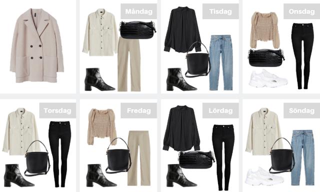 Perfekt inför jobbveckan eller resan! Så kombinerar du 11 trendiga plagg i sju outfits