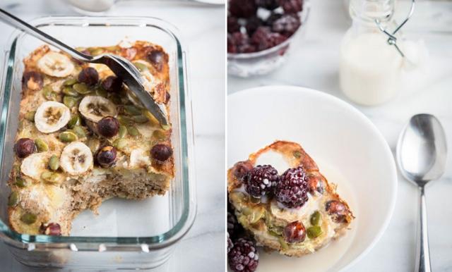 Lyxa till frukosten med bakad banangröt