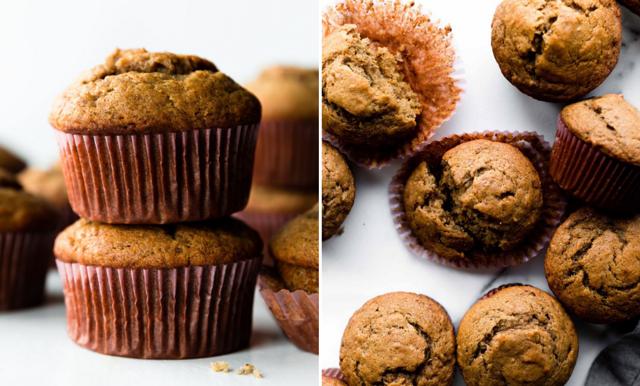 Nyttiga och enkla bananmuffins – passar lika bra till mellanmål som efterrätt