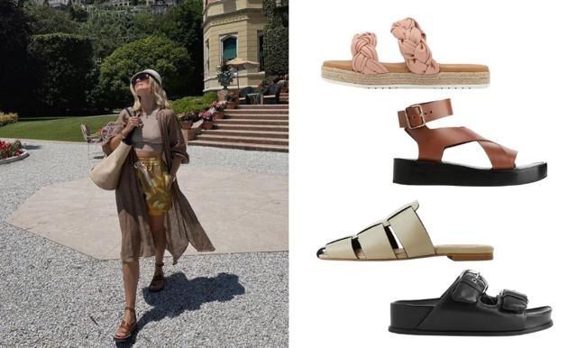 Snygg i sommarsolen med platta sandaler