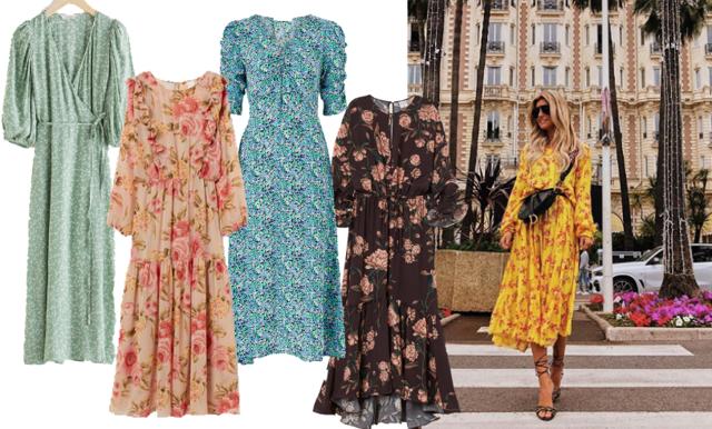 Floral explosion! 27 blommiga klänningar till våren och sommaren 2020