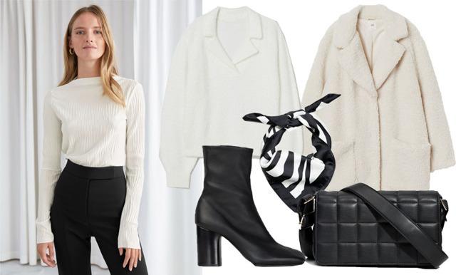 Stilsäkraste basgarderoben 2020 – mixa och matcha svart med vitt