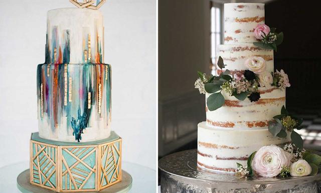 16 fina bröllopstårtor att inspireras av
