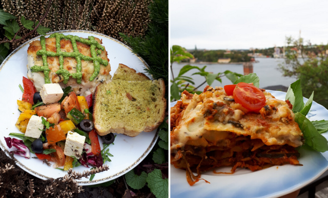 Bästa vegetariska lasagnen! Här är receptet från Hermans i Stockholm