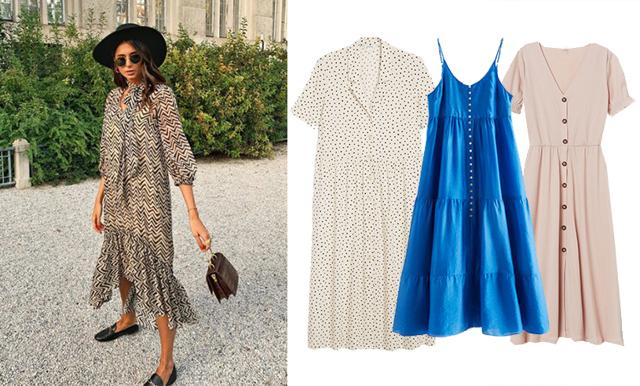 18 romantiska klänningar med knappar att bära i sommar