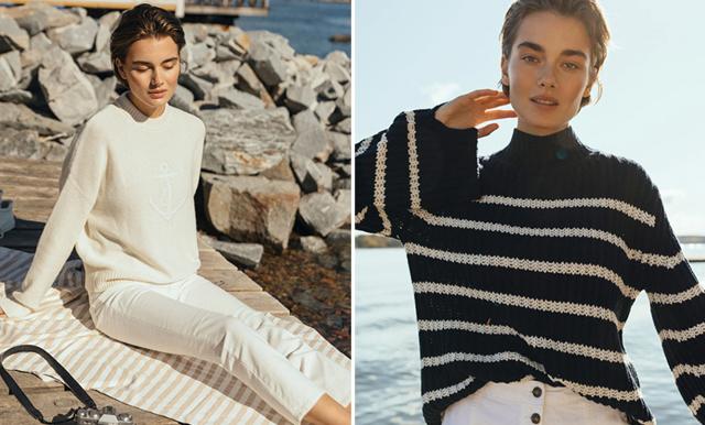 Bär den marina stilen i sommar! 7 tidlösa plagg i vitt och marinblått