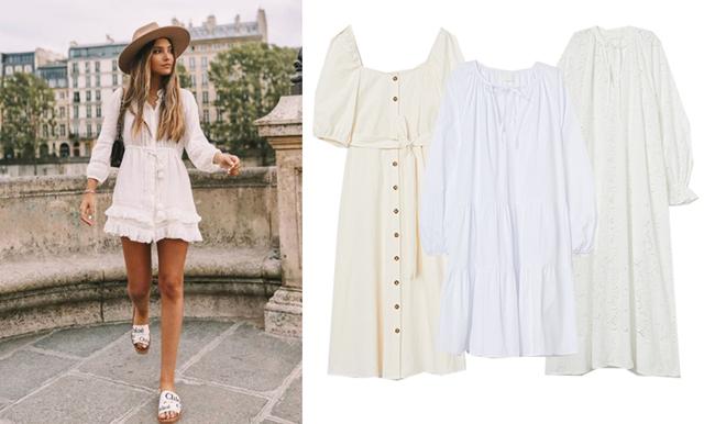 25 vita klänningar vi inte kan sluta tänka på att bära i sommar