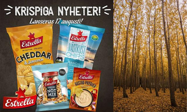 Stort nyhetssläpp i chipshyllan! Estrellas 4 nya smaker räddar hösten