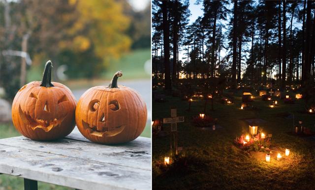 Här är skillnaden på Halloween och Alla Helgons Dag – och då infaller de i Sverige