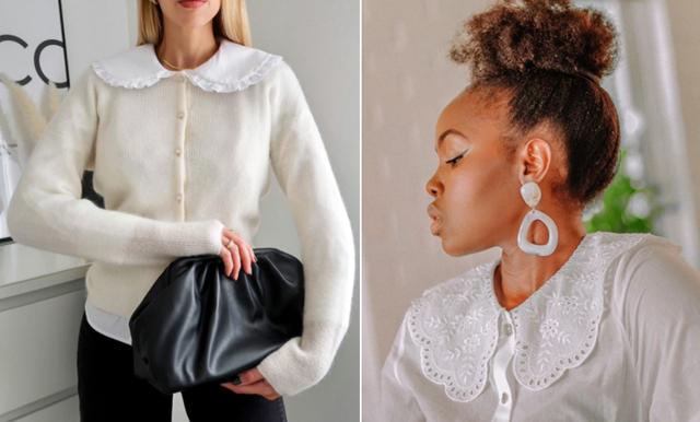 18 trendiga blusar och koftor med krage hösten 2020