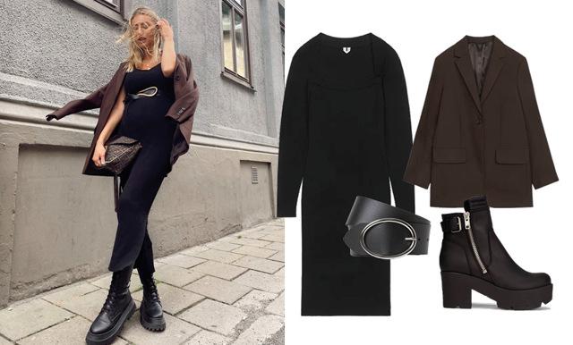 Så stylar du gravidmagen i höst – kopiera stilen av modemedvetna Sanna Jörnvik