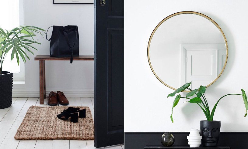 Hallway door math and mirror