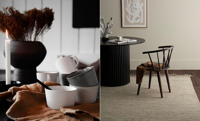 Kitchen interior table chair carpet