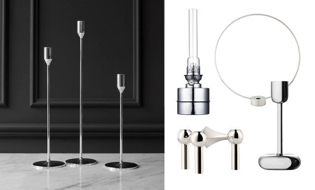 Sprid ljus i mörkret – 17 klassiska och stilrena ljusstakar i silver och krom