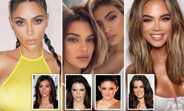 Fansen förundras över hur Kardashian-familjens ansikten har förändrats genom åren