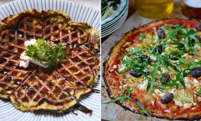 3 nyttiga recept på våfflor, pannkakor och pizza