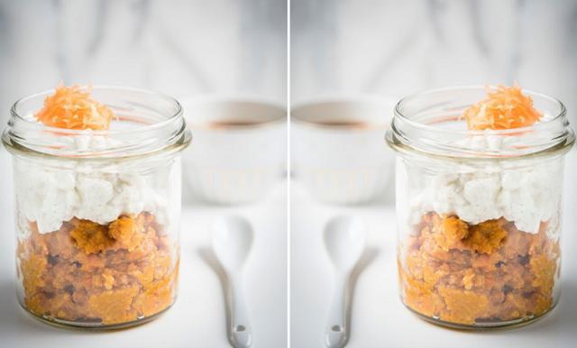 Morotsgröt med vaniljtopping