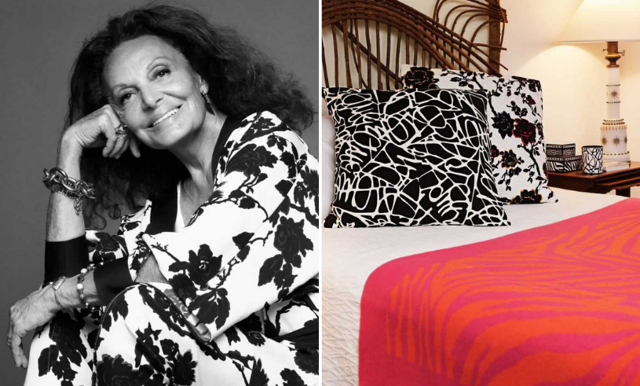 Nu är den här - Diane von Furstenbergs kollektion för H&M Home