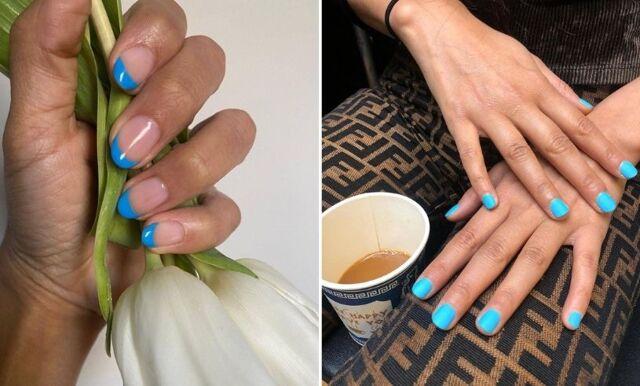 Nyanser av blått – trendigaste färgen på naglarna just nu