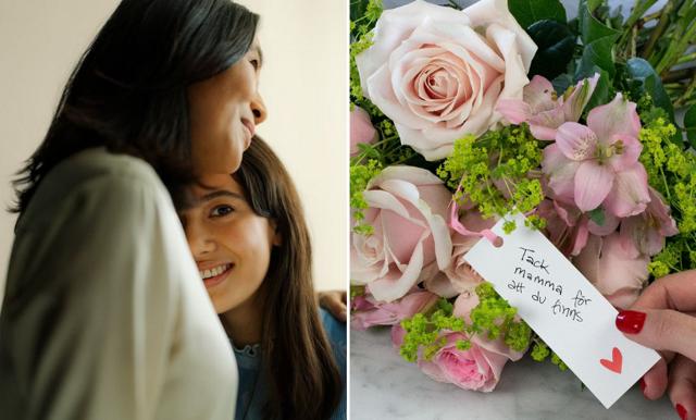 Uppvakta mamma med blommor på Mors dag