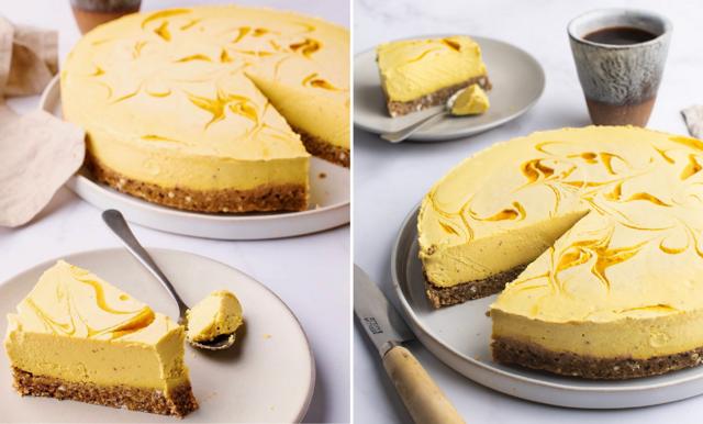 Så gör du en drömmig cheesecake med mango!
