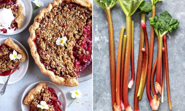 Underbart god rabarber och jordgubbspaj (Nyttig och glutenfri)