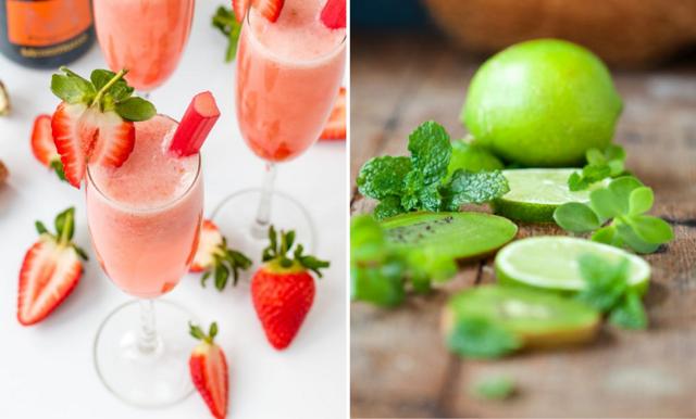 Syrlig rabarberbellini – enkel och läskande sommardrink