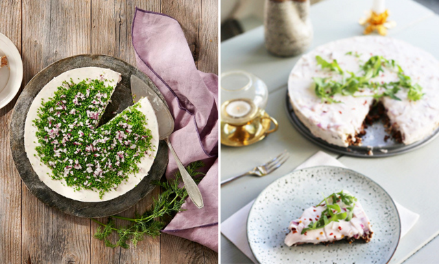 Servera sillen i en magisk matjesilltårta på midsommar