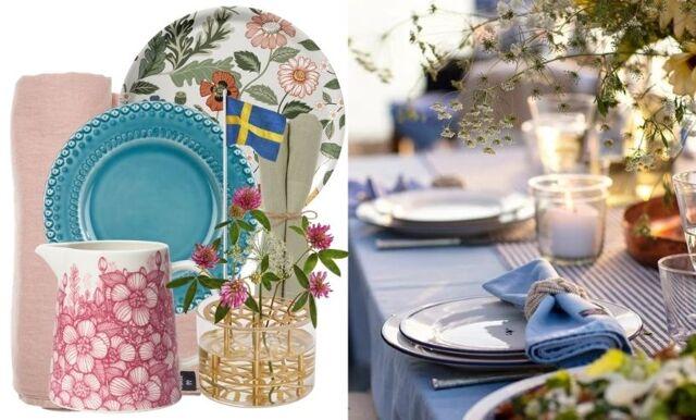 Midsommar – så dekorerar du ett vackert bord