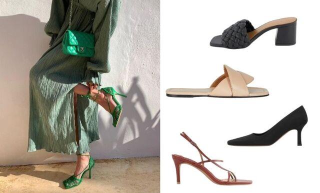 Sommarens trendigaste skor! 31 varianter med fyrkantig tå