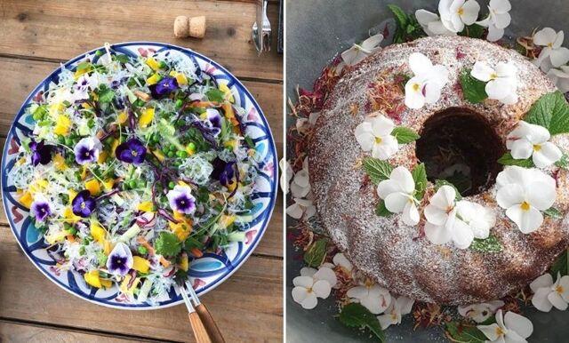 Dekorera maten eller tårtan med vackra ätbara blommor – spana in vår lista