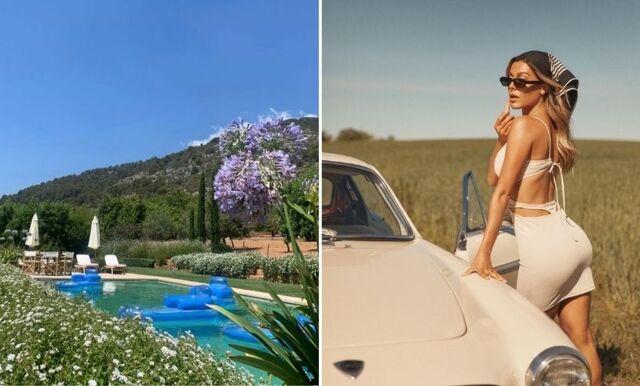 Bianca Ingrosso njuter av sommaren i exklusiv villa på Mallorca