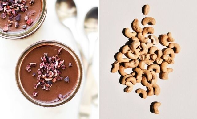 Recept på ljuvlig vegansk choklad, banan och cashewyoghurt