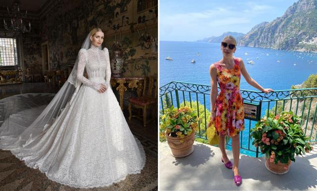 Lady Kitty Spencer delar med sig av bilder från sin bröllopsresa i Italien