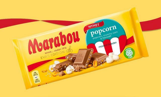Nyhet från Marabou – choklad med smak av popcorn, crunchy corn & havssalt